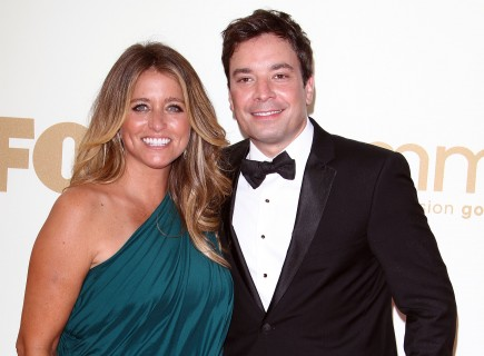 Nancy and Jimmy Fallon. Photo: Juan Rico/Fame Pictures