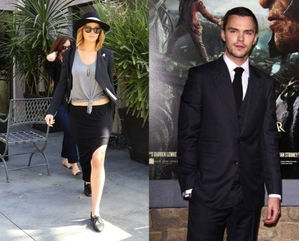 Jennifer Lawrence and Nicholas Hoult. Photo: FAMEFLYNET, Juan Rico/FAMEFLYNET PICTURES