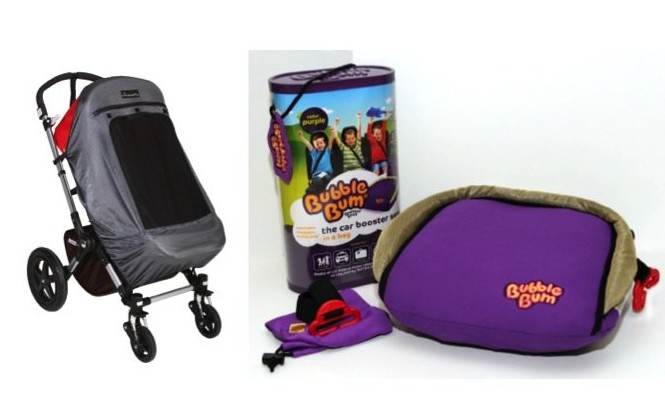 Photos courtesy of SnoozeShade Deluxe and BubbleBum.