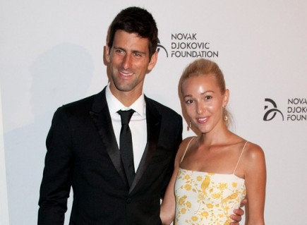 Novak Djokovic and Jelena Ristic. Photo: Janet Mayer / PRPhotos.com
