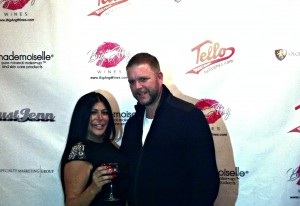 Big Ang and her husband, Neil pose for the camera at her official launch party.