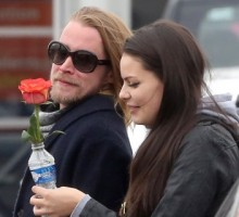 Macaulay Culkin Kisses New Girlfriend Jordan Lane Price in Paris
