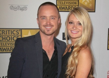 Aaron Paul and Lauren Parsekian. Photo: Andrew Evans / PR Photos