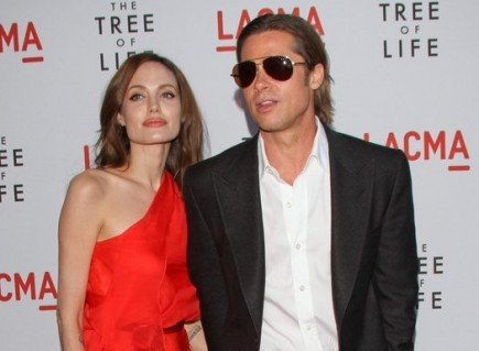 Angelina Jolie and Brad Pitt. Photo: Andrew Evans / PR Photos