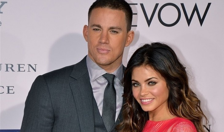 Cupid's Pulse Article: Celebrity Couple: Channing Tatum and Jenna Dewan-Tatum Hold Hands on Dog Walk