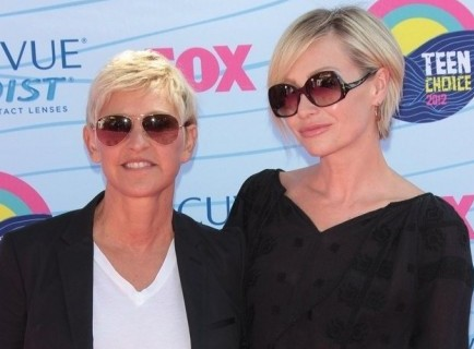 Ellen DeGeneres and Portia de Rossi. Photo: Andrew Evans / PR Photos