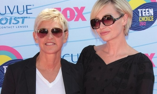 Cupid's Pulse Article: Ellen DeGeneres Shows Appreciation for Portia de Rossi's New Haircut