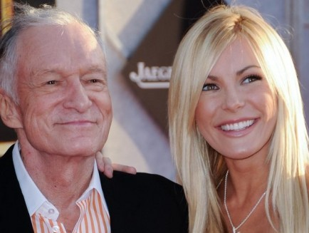 Hugh Hefner and Crystal Harris. Photo: Albert L. Ortega / PR Photos