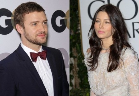 Justin Timberlake and Jessica Biel. Photo: Andrew Evans / PR Photos