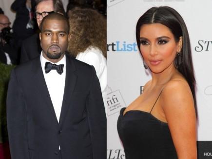 Kanye West and Kim Kardashian. Photo: Janet Mayer / PRPhotos.com; Landmark / PR Photos