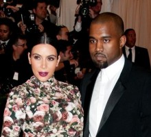 Celebrity News: Kim Kardashian Wears Floral Dress at Punk-Themed Met Gala with Kanye West