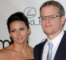 Celebrity Couple: Matt Damon and Wife Luciana Renew Wedding Vows