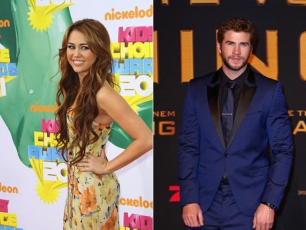 Miley Cyrus and Liam Hemsworth. Photo: Andrew Evans / PR Photos; Away! / PR Photos