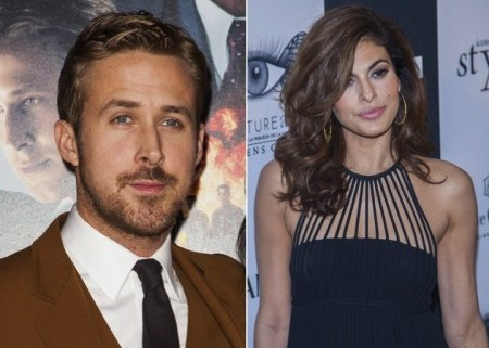 Ryan Gosling and Eva Mendes. Photo: Emiley Schweich / PR Photos; Marco Sagliocco / PRPhotos.com