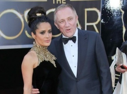 Salma Hayek and Francois-Henri Pinault. Photo: Andrew Evans / PR Photos