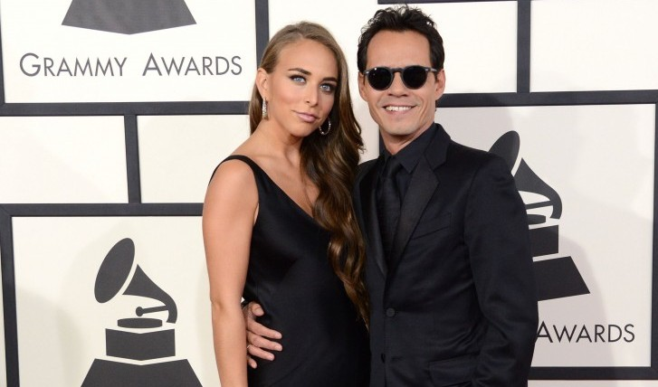 Marc Anthony and Girlfriend Chloe Green Show Affection at Grammy's
