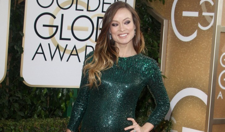 Cupid's Pulse Article: Olivia Wilde Shows Off Baby Bump at Golden Globes