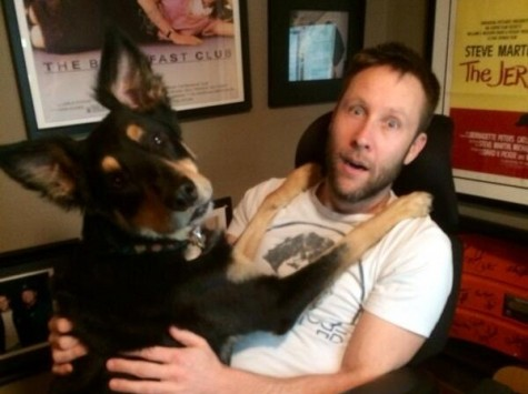 Michael Rosenbaum with his dog Irv. Photo courtesy of Michael Rosenbaum.