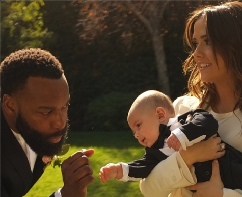 Baron Davis and Isabella Brewster with nephew Julian. Photo courtesy of Isabella's Instragram.