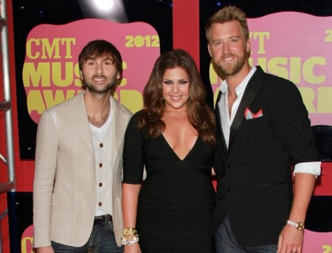 Dave Haywood, Hilary Scott and Charles Kelley. Photo: Andrew Evans / PR Photos
