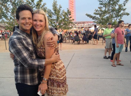 Scott and Kelley Wolf. Photo courtesy of Scott Wolf's Twitter.
