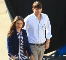 Mila Kunis and Ashton Kutcher Go On Movie Date