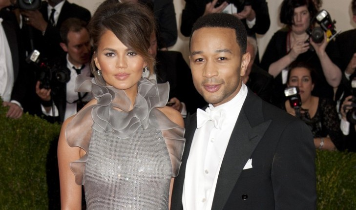 Chrissy Teigen and John Legend. Photo: Janet Mayer / PRPhotos.com
