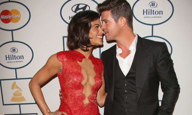 Cupid's Pulse Article: Did Robin Thicke and Paula Patton's Body Language Indicate A Split Was Coming?