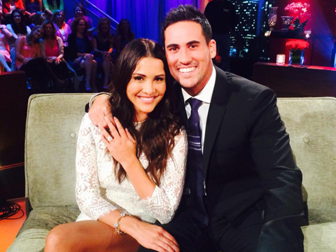 Andi Dorfman and Josh Murray celebrate their engagement. Photo: Courtesy of Andi Dorfman/Instagram