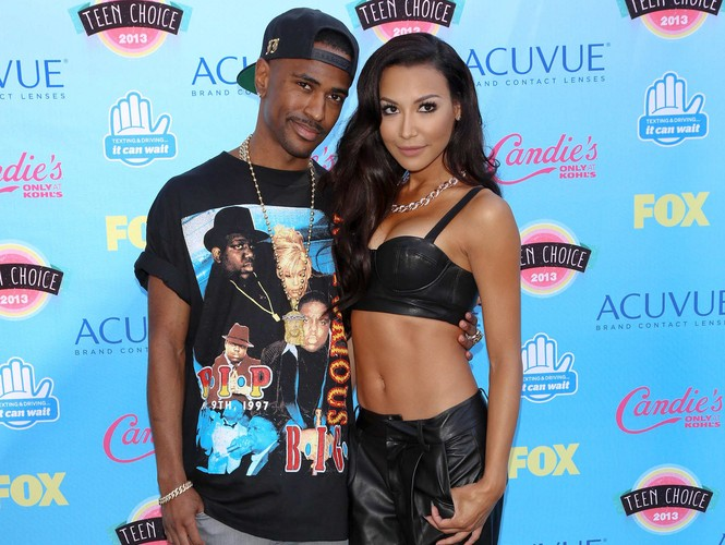 Big Sean and Naya Rivera before their engagement ended and Rivera married Ryan Dorsey. Photo: Andrew Evans / PR Photos
