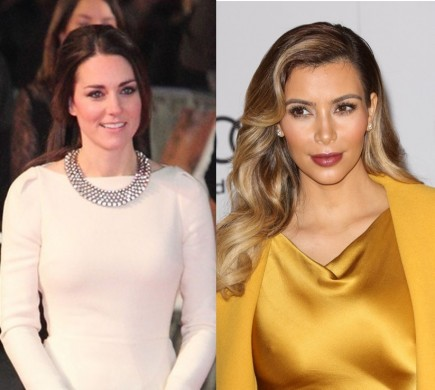 Kate Middleton and Kim Kardashian are trying to get pregnant at the same time. Photo: PR Photos