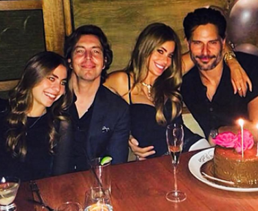 Sofia Vergara and Joe Manganiello out on Sofia Vergara's birthday. Photo: Instagram