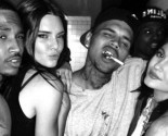 Kendall and Kylie Jenner Make Celebrity Gossip Headlines Cozying Up to Chris Brown and Trey Songz at Party