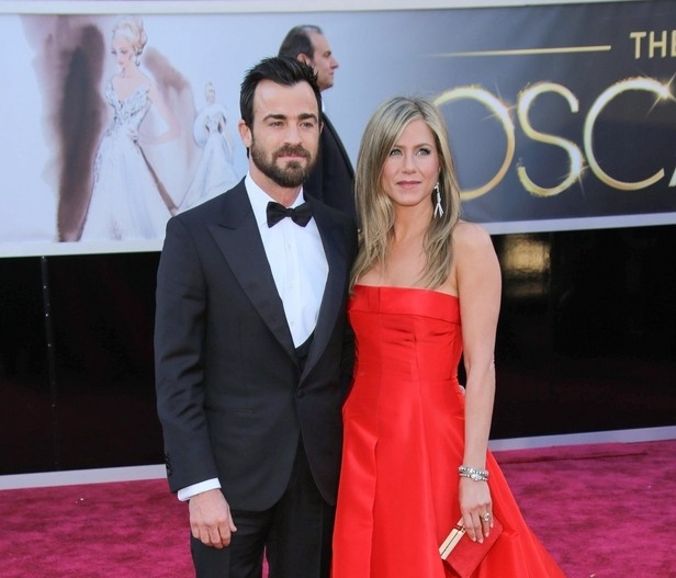 Justin Theroux and Jennifer Aniston at the 85th Annual Academy Awards in 2013. Photo: Andrew Evans / PR Photos