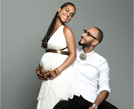 Pregnant Alicia Keys and husband Swizz Beatz. Photo: Alicia Keys/Instagram