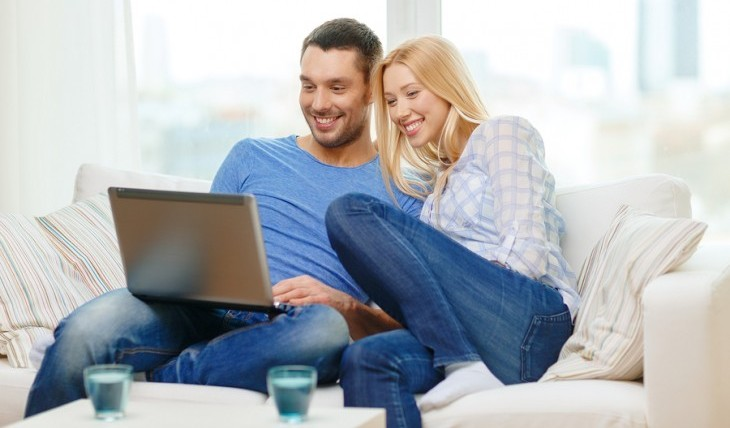 Couple watching video, date idea