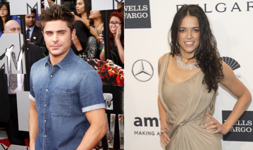 Cupid's Pulse Article: Zac Efron and Michelle Rodriguez Amp Up PDA in Spain