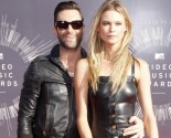 Adam Levine and Behati Prinsloo Make Debut as Married Couple