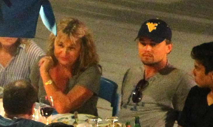 Leonardo DiCaprio enjoyed a dinner with his mom on July 9, 2011. Photo: Italypress/Fame Pictures