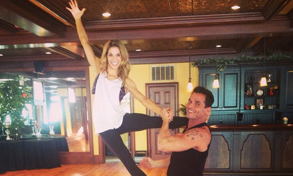 Antonio Sabato Jr. talks about dancing Bollywood with switch-up partner Allison Holker. Photo courtesy of Allison Holker's Instagram.