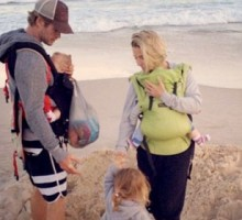 Chris Hemsworth Spends a Beach Day with Family