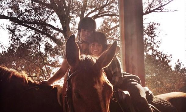 Ian Somerhalder and Nikki Reed horseback ride in Georgia. Photo: Ian Somerhalder / Instagram