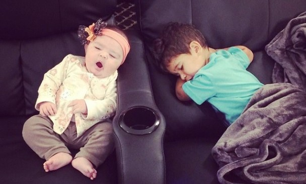 Cupid's Pulse Article: Reality TV Stars JWoww and Snooki's Celebrity Kids Enjoy a Sleepy Movie Date