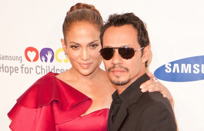 Celebrity Couples Who Co-Parent: Jennifer Lopez and Marc Anthony