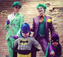 Neil Patrick Harris and Family Wear Gotham-Themed Halloween Costumes