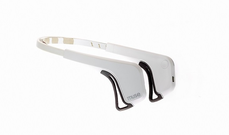 The Muse headband from Gaiam in white.