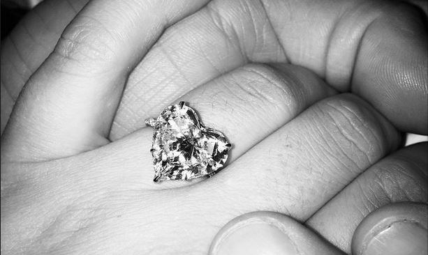 Lady Gaga and Taylor Kinney celebrate their engagement. Photo: Instagram