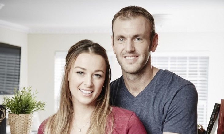 In this celebrity interview, married celebrity couple Jamie Otis & Doug Hehner from reality TV show 'Married at First Sight' share love advice. Photo courtesy of A&E.