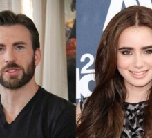 New Celebrity Couple Chris Evans and Lily Collins Step Out for Romantic Dinner Date