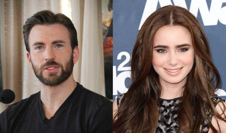 Cupid's Pulse Article: New Celebrity Couple Chris Evans and Lily Collins Step Out for Romantic Dinner Date